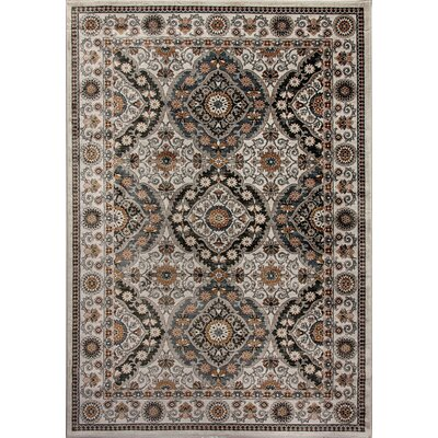 Venice Gray/Beige Area Rug Rug Size: Rectangle 92 x 1210