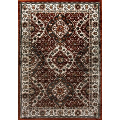 Venice Brown/Gray Area Rug Rug Size: 53 x 77