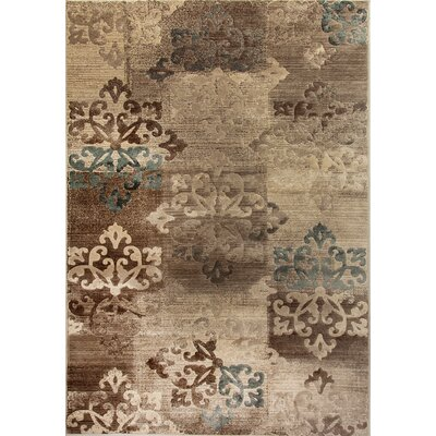 Treasure II Taupe Area Rug Rug Size: Rectangle 53 x 77