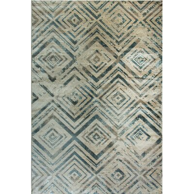 Treasure II Cream Area Rug Rug Size: 53 x 77