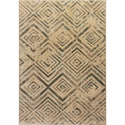 Treasure II Beige Area Rug Rug Size: Rectangle 36 x 56
