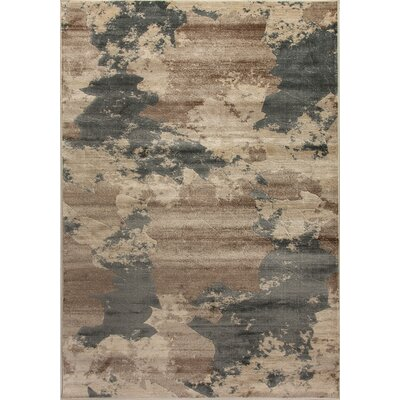 Treasure II Taupe/Dark Gray Area Rug Rug Size: Rectangle 53 x 77