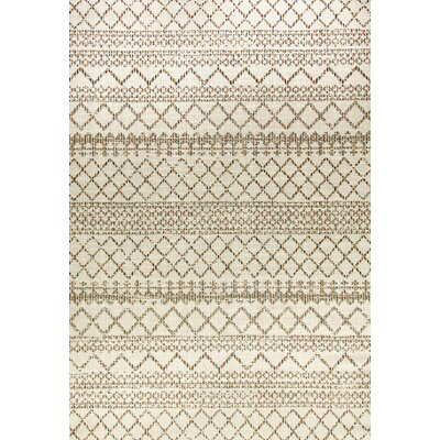 Wilcox Cream Indoor/Outdoor Area Rug Rug Size: Rectangle 53 x 77