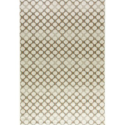 Veranda Cream Indoor/Outdoor Area Rug Rug Size: 53 x 77