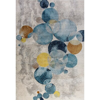 Fusion Blue/Gray Area Rug Rug Size: Rectangle 2 x 36