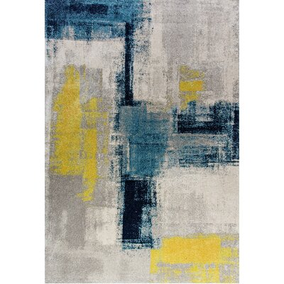 Fusion Blue/Gray Area Rug Rug Size: Rectangle 311 x 53