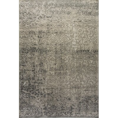 Quartz Beige/Gray Area Rug Rug Size: Rectangle 53 x 77