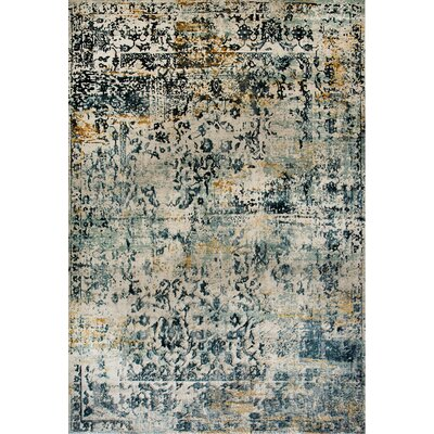 Quartz Blue/Beige Area Rug Rug Size: Rectangle 311 x 57