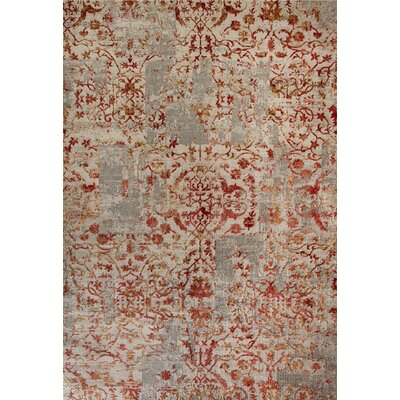 Quartz Red/Beige Area Rug Rug Size: 53 x 77
