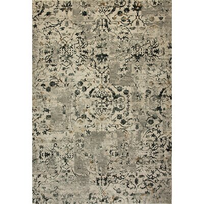 Quartz Gray/Beige Area Rug Rug Size: Rectangle 53 x 77