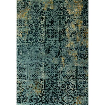 Quartz Blue Area Rug Rug Size: Rectangle 53 x 77
