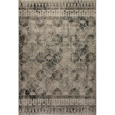 Lehigh Gray/Beige Area Rug Rug Size: Rectangle 71 x 101