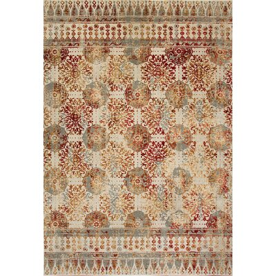 Lehigh Gray/Beige/Red Area Rug Rug Size: Rectangle 68 x 97