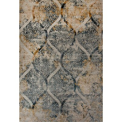 Lehigh Blue/Gold/Beige Area Rug Rug Size: Rectangle 92 x 1210