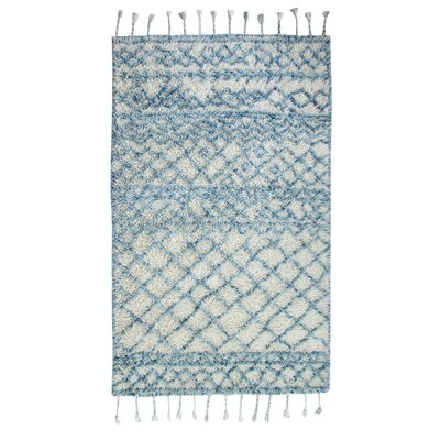 Mayer Hand-Woven Blue Area Rug Rug Size: Rectangle 5 x 8