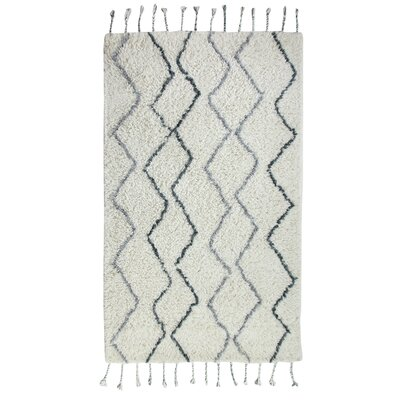 Mayer Hand-Woven Gray Area Rug Rug Size: 3 x 5