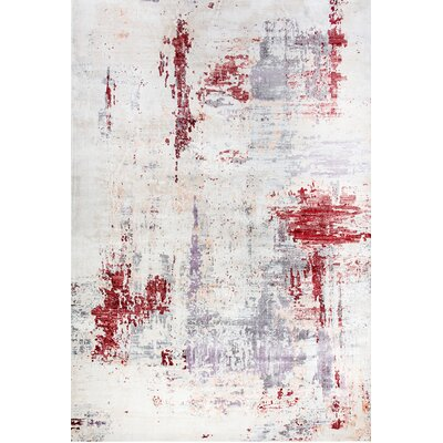 Chelsea Cream/Gray Area Rug Rug Size: Rectangle 2 x 35