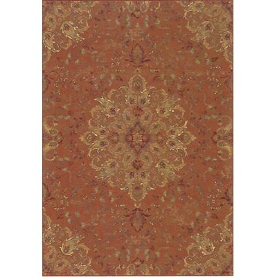 Regal Rust Area Rug Rug Size: 53 x 77
