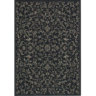 Regal Black/Taupe Area Rug Rug Size: 53 x 77