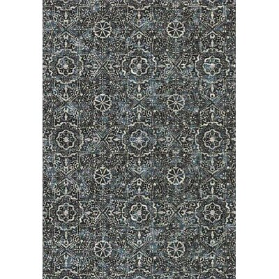 Regal Silver/Blue Area Rug Rug Size: 67 x 96