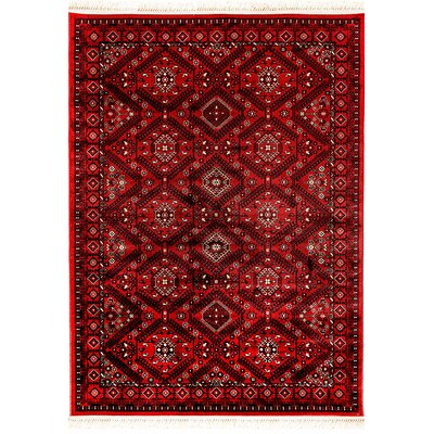Crown Red Area Rug Rug Size: 92 x 1210