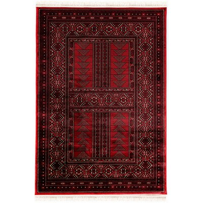 Crown Red Area Rug Rug Size: 53 x 7