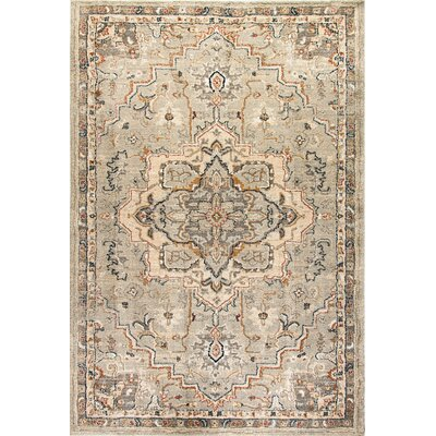 Evolution Beige Area Rug Rug Size: Rectangle 53 x 77