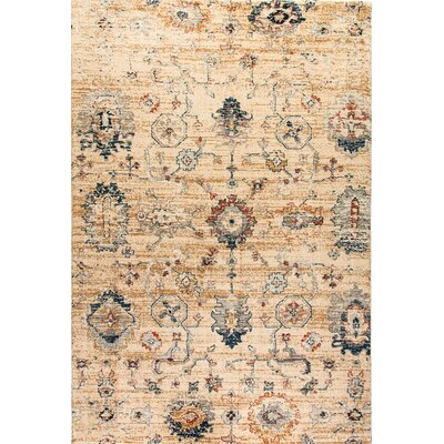 Evolution Tan Area Rug Rug Size: 53 x 77