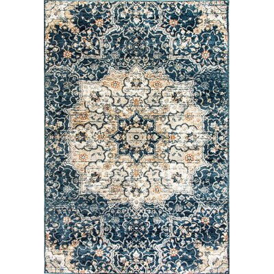 Evolution Navy Area Rug Rug Size: 67 x 96
