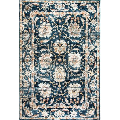 Evolution Navy Area Rug Rug Size: 53 x 77
