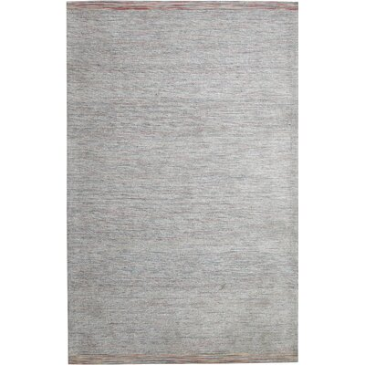 Summit Hand-Woven Grey Area Rug Rug Size: 5 x 8