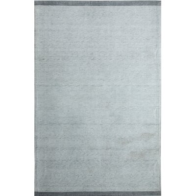 Summit Hand- Woven Silver/Grey Area Rug Rug Size: 4 x 6