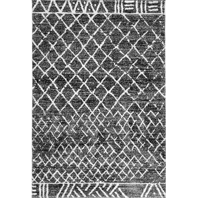 Mirage Black Area Rug Rug Size: 53 x 77