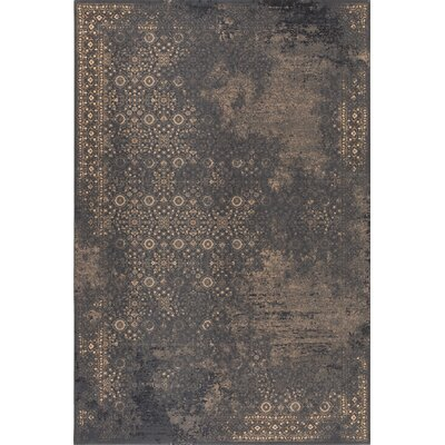 Brilliant Brown Area Rug Rug Size: Rectangle 53 x 77