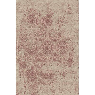 Brilliant Beige Area Rug Rug Size: Rectangle 53 x 77