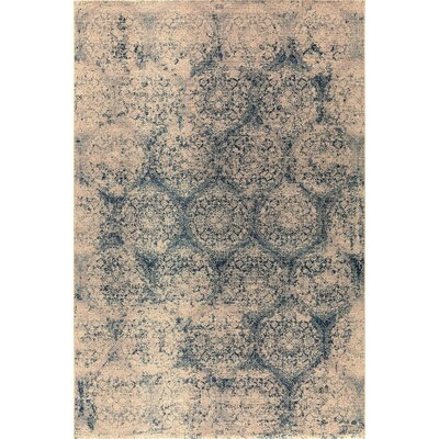 Brilliant Blue/Beige Area Rug Rug Size: Rectangle 67 x 910