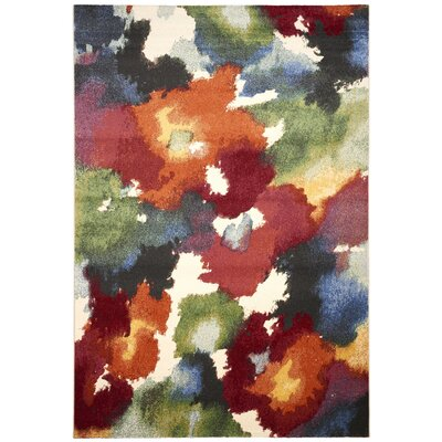 Infinity Red/Green Area Rug Rug Size: 53 x 77