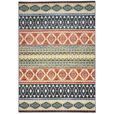 Infinity Beige/Green Area Rug Rug Size: Rectangle 53 x 77