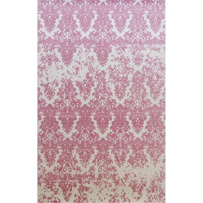 Gerry Hand-Woven Ivory/Blush Area Rug Rug Size: Rectangle 8 x 11
