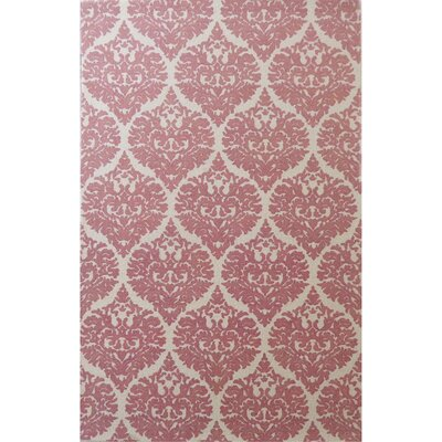 Sevenoaks Hand-Woven Ivory/Coral Area Rug Rug Size: Rectangle 5 x 8