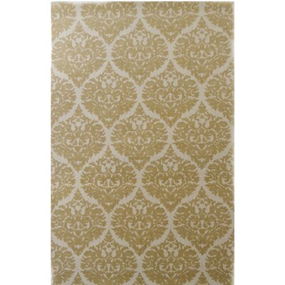 Sevenoaks Hand-Woven Ivory/Gold Area Rug Rug Size: Rectangle 2 x 4
