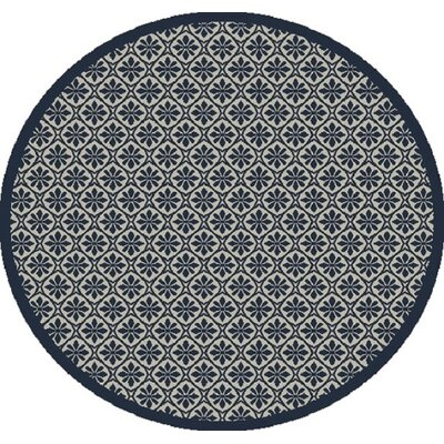 Piazza Beige/Blue Indoor/Outdoor Area Rug Rug Size: Rectangle 53 x 77