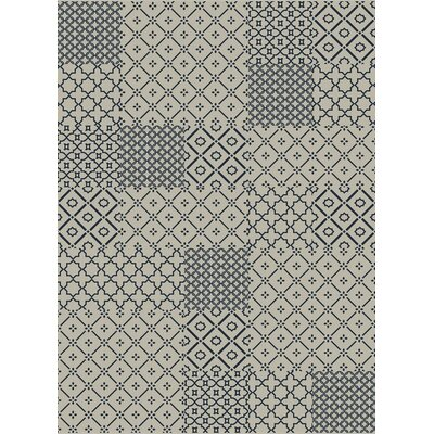 Piazza Beige/Blue Area Rug Rug Size: Rectangle 53 x 77