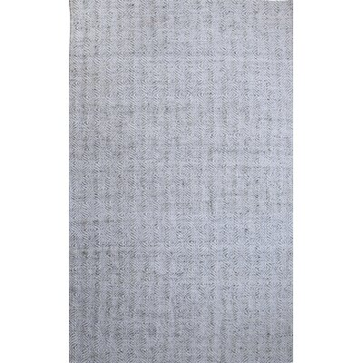 Zest Hand-Woven Gray/Ivory Area Rug Rug Size: Rectangle 5 x 8