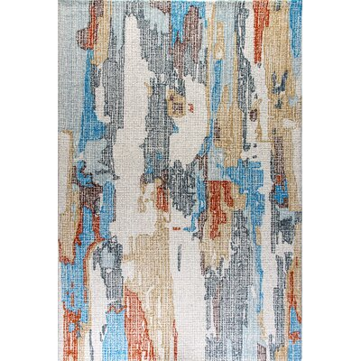 Ember Handmade Blue Area Rug Rug Size: Rectangle 33 x 53