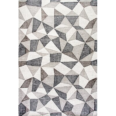 Ember Handmade Gray Area Rug Rug Size: Rectangle 5 x 8