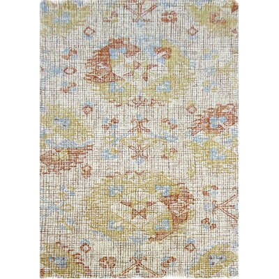 Ember Handmade Gold Area Rug Rug Size: Rectangle 92 x 126