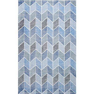 Ember Handmade Blue Area Rug Rug Size: Rectangle 2 x 4