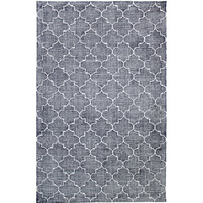 Ember Handmade Dark Blue Area Rug Rug Size: Rectangle 33 x 53