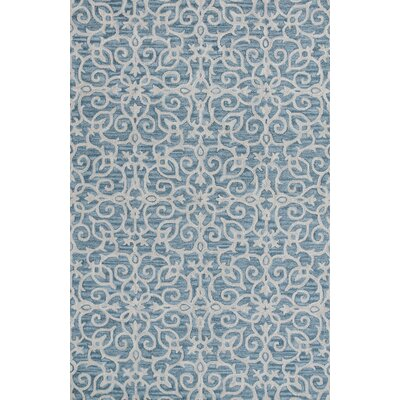 Galen Handmade Wool Blue Area Rug Rug Size: Rectangle 33 x 53